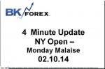 BK VIDEO 4 Minute Update NY Open – Monday Malaise 02.10.14