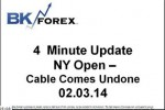 BK VIDEO 4 Minute Update NY Open – Cable Comes Undone 02.03.14