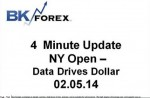 BK VIDEO 4 Minute Update NY Open – Data Drives Dollar 02.05.14