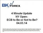 BK VIDEO 4 Minute Update NY Open- ECB to Be or Not to Be? 04.03.14