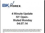 BK VIDEO 4 Minute Update NY Open- Muted Monday 04.07.14