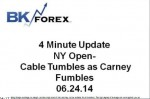 BK VIDEO 4 Minute Update NY Open- Cable Tumbles as Carney Fumbles 06.24.14