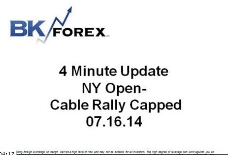 BK VIDEO 4 Minute Update NY Open- Cable Rally Capped 07.16.14