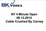 BK VIDEO – NY 4 Minute Open 08.13.2014 Cable Crushed By Carney