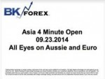 BK VIDEO -Asia 4 Minute Open 09.23.2014 All Eyes on Aussie and Euro