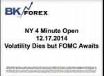 BK VIDEO NY 4 Minute Open 12.17.2014 Volatility Dies but FOMC Awaits