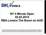 BK VIDEO NY 4 Minute Open 02.03.2015 RBA Lowers The Boom on AUD