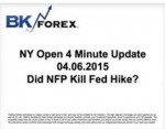 BK VIDEO NY Open 4 Minute Update 04.06.2015 Did NFP Kill Fed Hike?