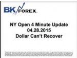 BK VIDEO NY Open 4 Minute Update 04.28.2015 Dollar Can't Recover
