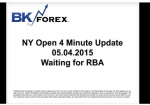 BK VIDEO NY Open 4 Minute Update 05.04.2015 Waiting for RBA