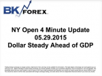 BK VIDEO NY Open 4 Minute Update 05.29.2015 Dollar Steady Ahead of GDP