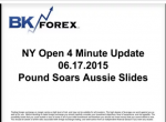BK VIDEO NY Open 4 Minute Update 06.17.2015 Pound Soars Aussie Slides