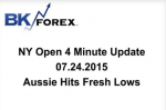 BK VIDE NY Open 4 Minute Update 07.24.2015 Aussie Hits Fresh Lows