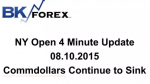BK VIDEO – NY Open 4 Minute Update 08.10.2015 Commdollars Continue to Sink
