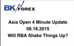 BK VIDEO Asia Open 4 Minute Update 08.18.2015 Will RBA Shake Things Up?