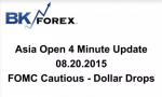 BK VIDEO Asia Open 4 Minute Update 08.20.2015 FOMC Cautious – Dollar Drops