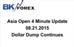 BK VIDEO Asia Open 4 Minute Update 08.21.2015 Dollar Dump Continues