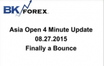 BK VIDEO Asia Open 4 Minute Update 08.27.2015 Finally a Bounce