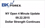 BK VIDEO NY Open 4 Minute Update 09.22.2015 Dollar Strength Continues