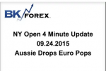 BK VIDEO NY Open 4 Minute Update 09.24.2015 Aussie Drops Euro Pops