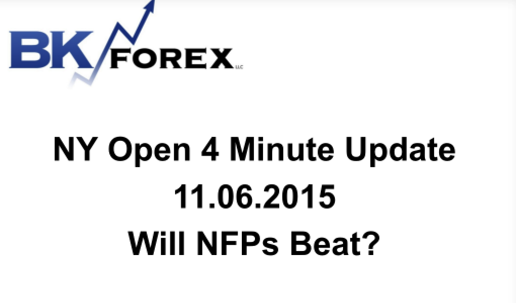 BK VIDEO NY Open 4 Minute Update 11.06.2015 Will NFPs Beat?
