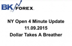 BK VIDEO NY Open 4 Minute Update 11.09.2015 Dollar Takes A Breather
