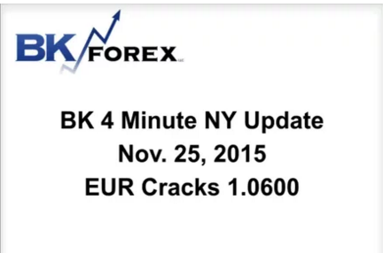 BK Video BK 4 Minute NY Update  Nov. 25, 2015 EUR Cracks 1.0600