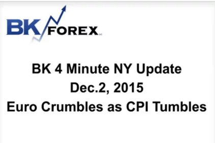 BK VIDEO BK 4 Minute NY Update  Dec.2, 2015 Euro Crumbles as CPI Tumbles