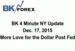 BK 4 Minute NY Update  Dec. 17, 2015 More Love for the Dollar Post Fed