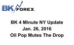BK 4 Minute NY Update  Jan. 26, 2016 Oil Pop Mutes The Drop