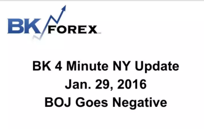 BK 4 Minute NY Update  Jan. 29, 2016 BOJ Goes Negative