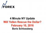 4 Minute NY Update Will Yellen Rescue the Dollar? February 10, 2016