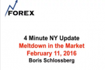 4 Minute NY Update Meltdown in the Market February 11, 2016