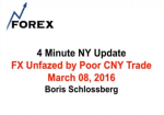 4 Minute NY Update FX Unfazed by Poor CNY Trade March 08, 2016