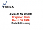 4 Minute NY Update Draghi on Deck March 10, 2016