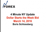 4 Minute NY Update Dollar Starts the Week Bid March 14, 2016