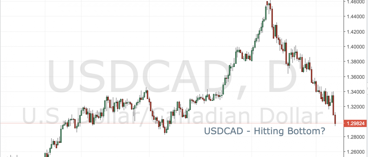 USDCAD  Hitting Bottom?