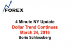 4 Minute NY Update Dollar Trend Continues March 24, 2016