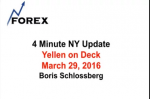 4 Minute NY Update Yellen on Deck March 29, 2016