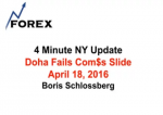 4 Minute NY Update Doha Fails Com$s Slide April 18, 2016