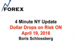 4 Minute NY Update Dollar Drops on Risk ON April 19, 2016
