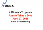 4 Minute NY Update Aussie Takes a Dive April 27, 2016