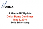 4 Minute NY Update Dollar Dump Continues May 3, 2016