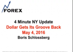 4 Minute NY Update Dollar Gets Its Groove Back May 4, 2016