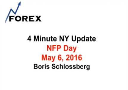 4 Minute NY Update NFP Day May 6, 2016
