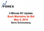 4 Minute NY Update Buck Maintains its Bid May 9, 2016