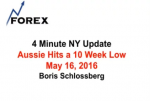 4 Minute NY Update Aussie Hits a 10 Week Low May 16, 2016