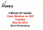 4 Minute NY Update  Cable Wobbles as GDP Troubles May 26, 2016