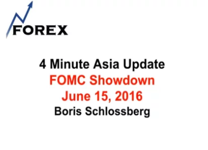 4 Minute Asia Update FOMC Showdown June 15, 2016