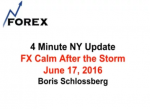 4 Minute NY Update FX Calm After the Storm June 17, 2016